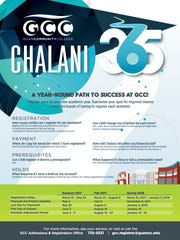 A poster for Guam Community College's Chalani365 program.