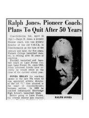 Ralph Jones in Indianapolis Star clipping.