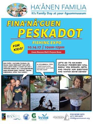 "A flyer of the ""Fina'nå'guen Peskadot"" expo."