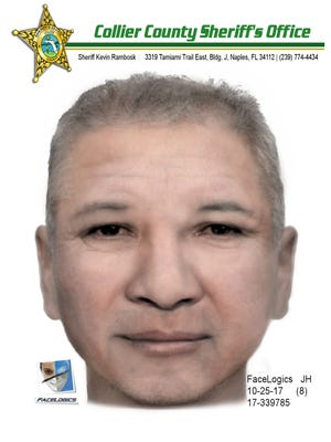 The Collier County Sheriff's Office released a composite sketch of a man accused of trying to lead a 3-year-old boy away from his family in near Collier Boulevard on Sunday.