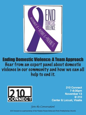 "On Monday, 210 Connect will host its monthly forum entitled, ""Ending Domestic Violence: A Team Approach."" The forum will focus on what is being done locally to end domestic violence."