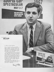 """Gary Kohs organized a """"Sports Car Spectacular"""" while at Notre Dame in 1967."""