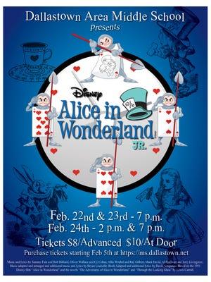 "Dallastown Area Middle School presents ""Alice in Wonderland Jr."""