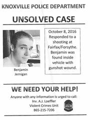 Police plan to canvass a North Knoxville neighborhood Monday, March 12, 2018 for potential witnesses to the unsolved murder of Ben Jernigan, who was found dead of a gunshot wound near the corner of Fairfax Avenue and Forsythe Street on Oct. 8, 2016.