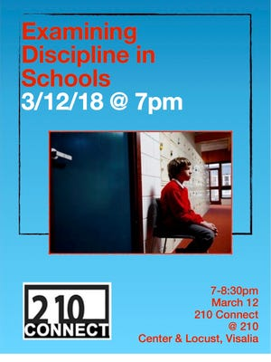 210 Connect will host its monthly forum on school discipline on Monday, March 12.