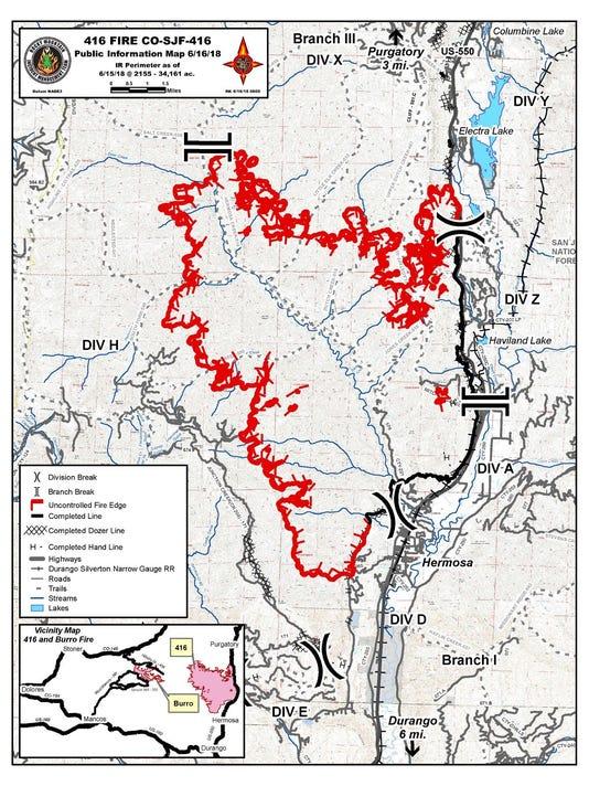 416 Fire Wet Weather Slows Blaze Flash Flood Watch Continues