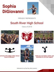 Snapple Bowl program book advertisement page for Sophia DiGiovanni