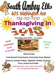 Enjoy Thanksgiving in July from 6 to 8 p.m. on Thursday,