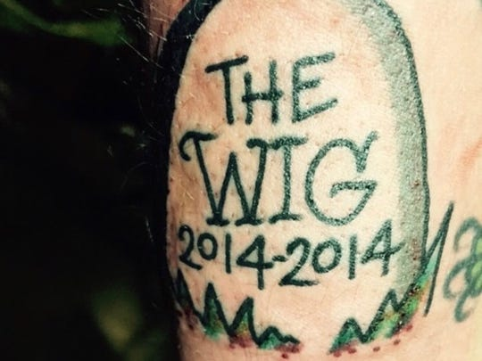 """Dykas knew from the start that Community Push's time in the space would be limited; he has a tattoo with a headstone with """"2014-2014"""" as the dates, anticipating only a short stay in Midtown."""