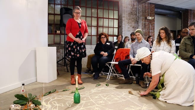 Speaker Jodi Rhoden spoke at CreativeMornings in January and invited locals to explore the rich history and practical application of the Tarot.