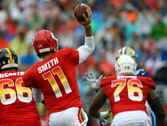 Alex Smith made the AFC Pro Bowl team in 2017.