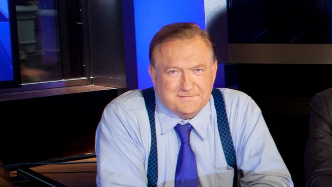 """Bob Beckel, co-host of Fox News Channel's """"The Five,"""" following a taping of the show in New York."""