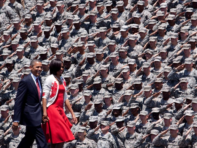 President Obama and first lady Michelle Obama make