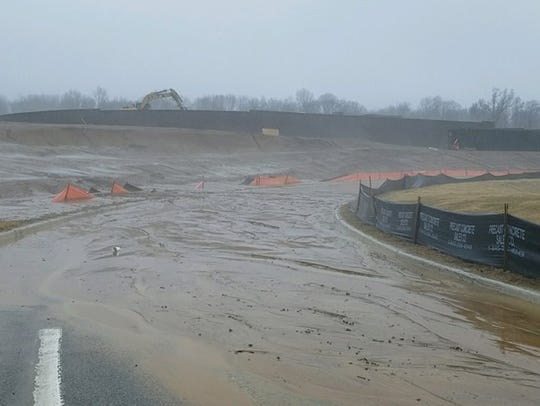 Parsippany police posted this photo of a mud slide