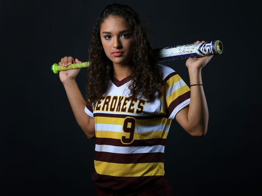 All-South Texas Newcomer of the Year Jordyn Torre from Tuloso-Midway High School poses for a photo Thursday, June 22, 2017, in Corpus Christi.
