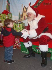 Brody Thompson, 2, of Valhalla meets Santa at Westchester's
