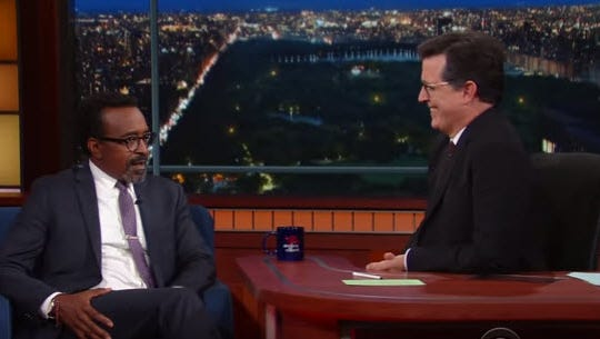 """Tim Meadows appears on """"The Late Show with Stephen Colbert"""" show on Wednesday, Sept. 21, 2016."""