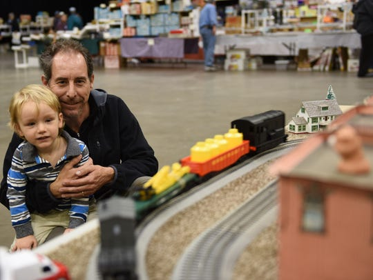 Hundreds of people attend the Model Train and Hobby Show at the Mid-Hudson Civic Center.