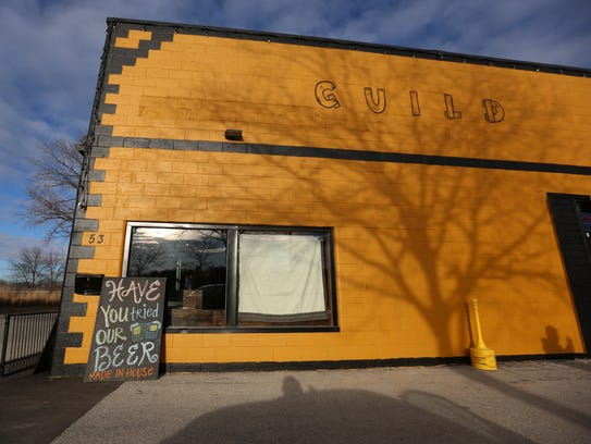 Guild Wurst Tavern in Coralville is pictured on Friday,