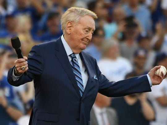 Vin Scully, former Dodgers broadcaster