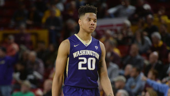 Markelle Fultz looks on in a January loss to ASU in Tempe.