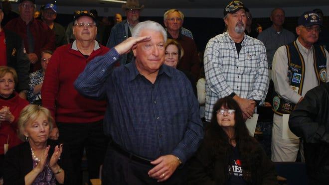 U.S. Navy veteran Joe Farone of Livonia served on the U.S.S. Intrepid off the coast of Vietnam.