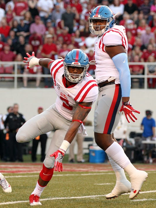 NCAA Football: Mississippi at Arkansas