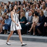 Model Kendall Jenner wears a creation as part of Chanel's Spring/Summer 2015 ready-to-wear fashion collection presented in Paris.