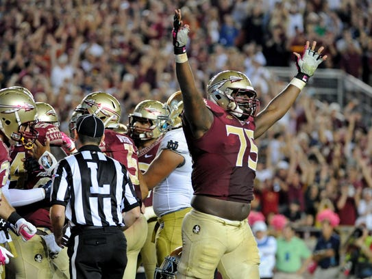 Florida State Seminoles offensive lineman Cameron Erving