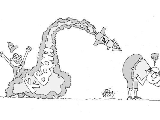 Watson cartoon July 4