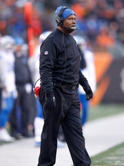 Lions coach Jim Caldwell looks on against the Bengals
