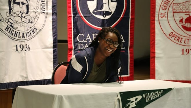 Carolina Day senior Mikayla Ray has signed to play college basketball for William Peace out of Raleigh.