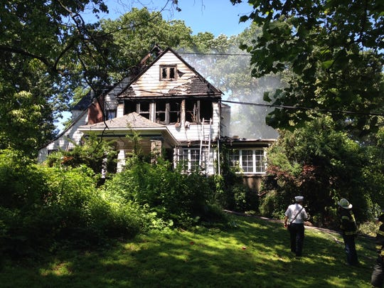Fire guts mansion at 12 The Boulevard in New Rochelle.