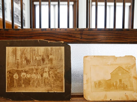 A couple of historic photographs are on display at Billings City Hall.