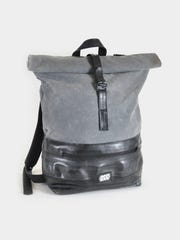 A rolltop backpack by EvenOdd.