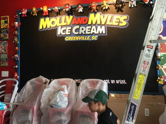 The art wall at Molly and Myles will allow all customers to tap into their creative side for a chance to win free ice cream for a month.