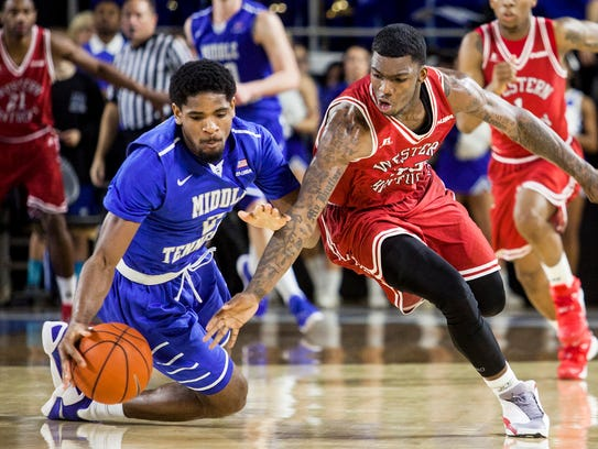 Middle Tennessee forward Perrin Buford (2), a Hillcrest-Tuscaloosa