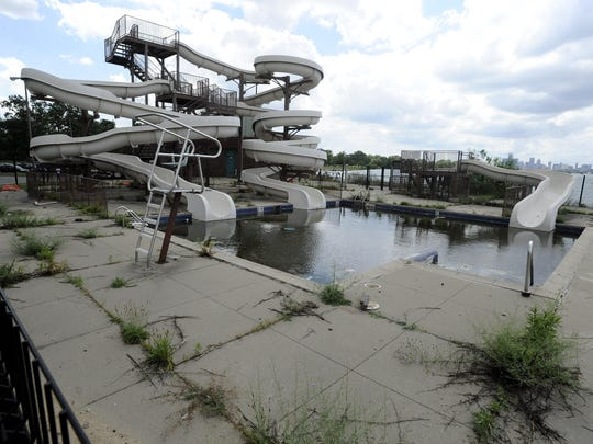 The water slide, which is near the Belle Isle beach, was likely built in the 1990s and last used in 2013 as the city was in the midst of its financial crisis, said Ron Olson, parks and recreation division chief for the state Department of Natural Resources.