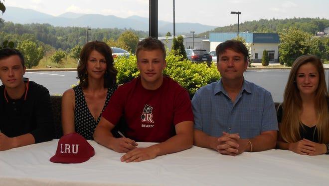 Recent North Buncombe graduate Matt Panzenhagen has signed to play college baseball for Lenoir-Rhyne.
