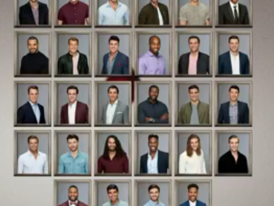 These are all 28 men competing for Becca Kufrin's heart