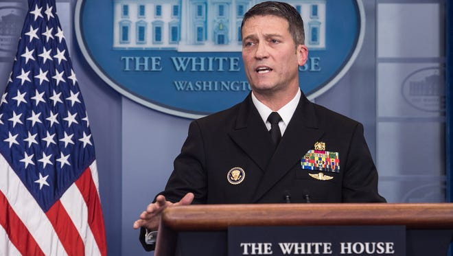 White House physician Rear Adm. Ronny Jackson during a news briefing