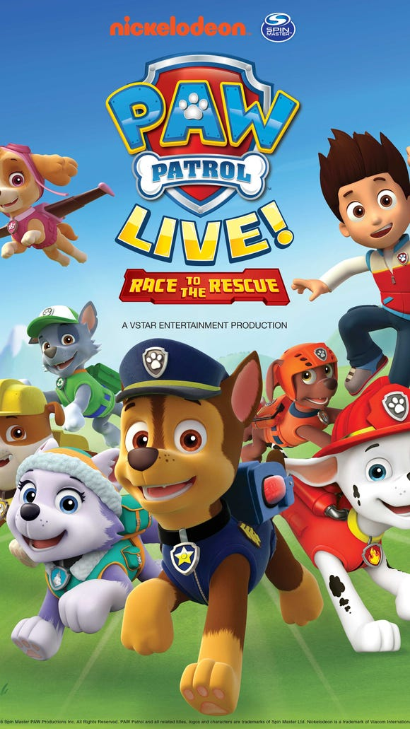 Paw Patrol Live will be in Evansville at Aiken Theatre Oct. 29-30.