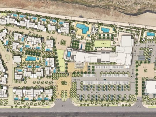 An aerial view of TMC Group's proposed development