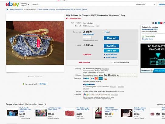 The bag originally sold for $50.