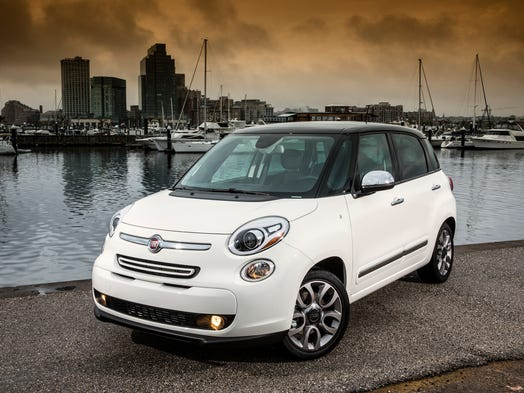 The 2014 Fiat 500L is $19,995 for Pop base model, including $800 shipping, to $28,545 for fully loaded Lounge.