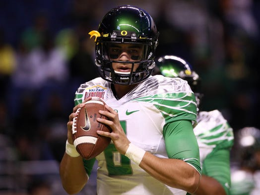 First team QB: Marcus Mariota, Oregon (redshirt junior)