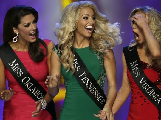 Hayley Lewis, center, represented Tennessee at the