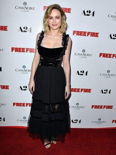 Brie Larson looked elegant in Elie Saab at the Los