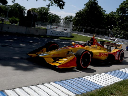 Ryan Hunter-Reay of Andretti Autosport who finished