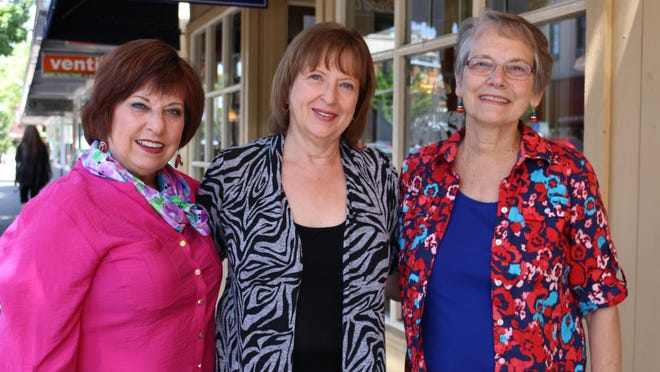 From left, Tammy Roberson, Janet Owen and Diane Watson will be singing to raise money for the a cappella choral group's travel to Las Vegas and Honolulu, Hawaii.